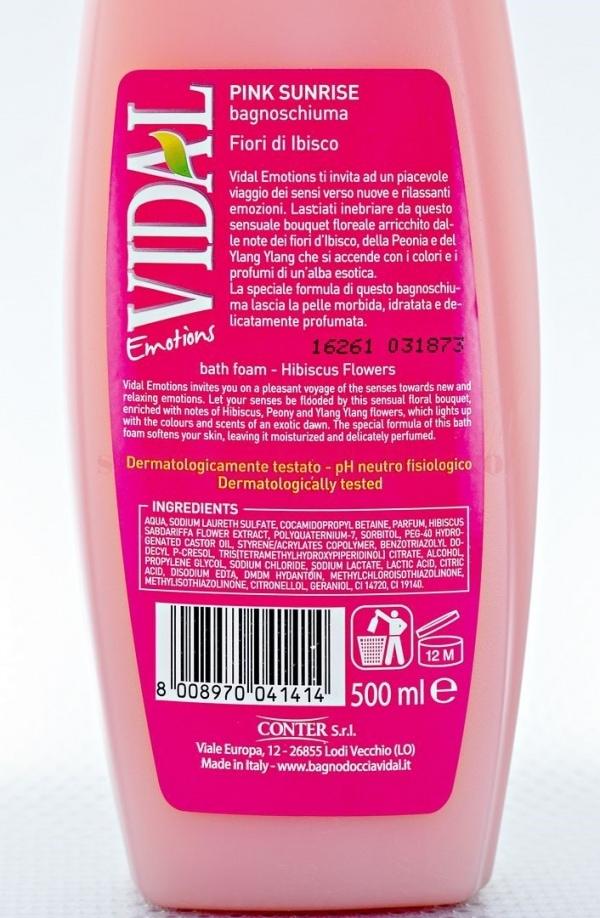 Gel de dus Vidal cu flori de hibiscus 500 ml 3