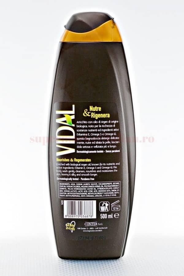 Gel de dus Vidal cu ulei de argan 500 ML 2