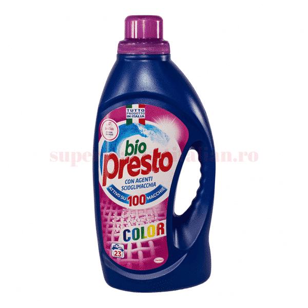 bio presto detergent lichid automat pentru haine colorate 23 spalari