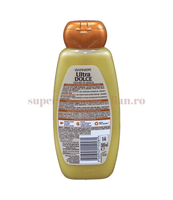 garnier ultra dolce shampoo ricistituente tesori di miele 300 back