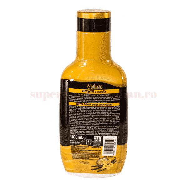 malizia gel de dus cu ulei de argan si vanilie 1l spate
