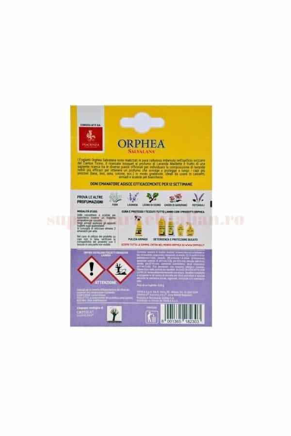 Folii Parfumate pentru Haine Orphea cu Lavandă pentru Lână și Fibre Naturale 12 bucăți 1 1