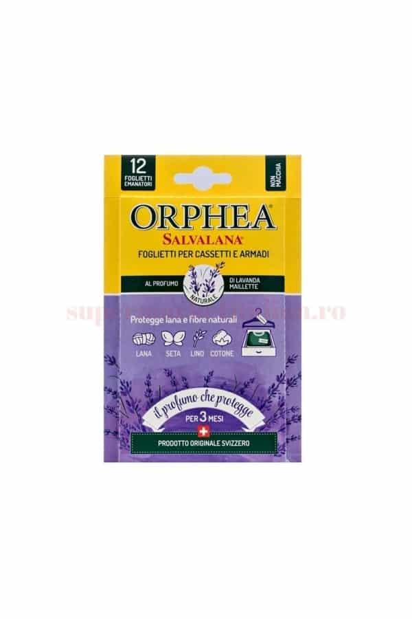 Folii Parfumate pentru Haine Orphea cu Lavandă pentru Lână și Fibre Naturale 12 bucăți 2 1