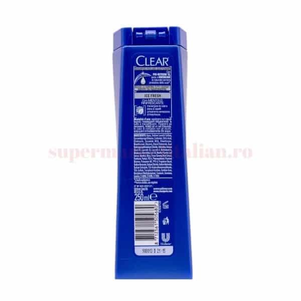 Sampon Clear Men Ice Fresh cu mentol revigorant Anti matreata 250 ml 2