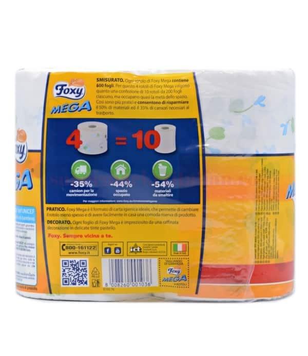 Hârtie igienică Foxy MEGA 4 role 8008260001036 2
