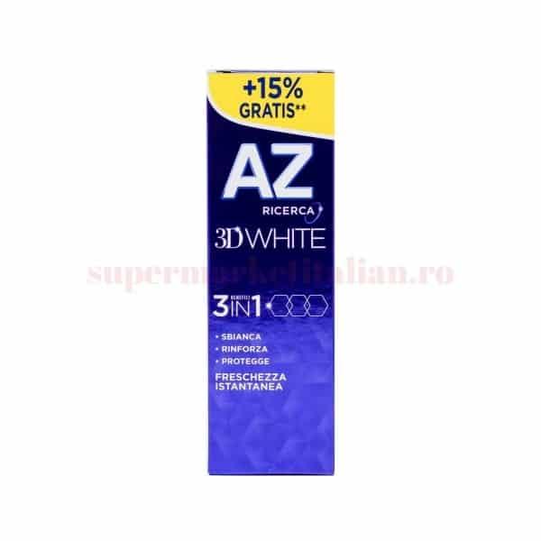 Pastă de dinți AZ Ricerca 3D White 3 in 1 Prospetime Instantanee 1