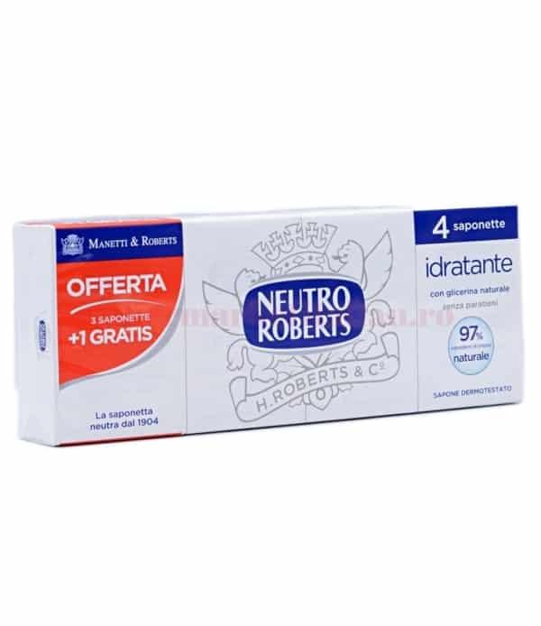 Săpun solid Neutro Roberts cu Glicerină Naturală 4 bucăți 8002410003529 1