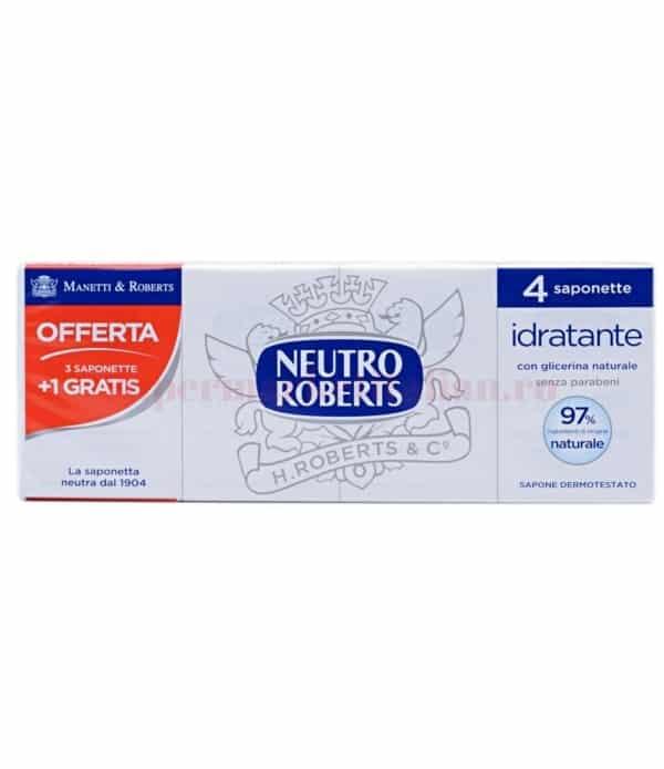 Săpun solid Neutro Roberts cu Glicerină Naturală 4 bucăți 8002410003529