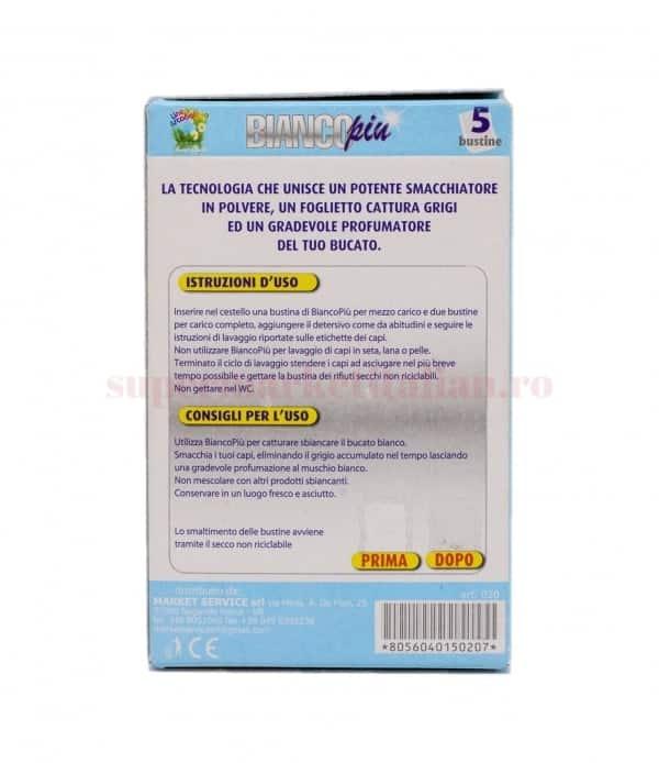 Saci de Albire Bianco Piu pentru Masina de Spalat Rufe cu Parfum de Mosc Alb 5 bucati 2