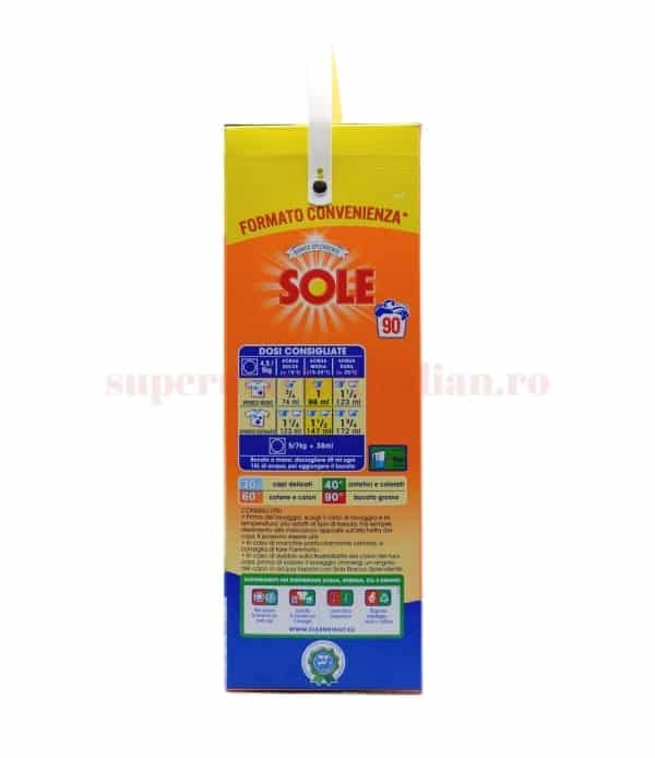 Detergent pulbere Sole Bianco Splendente 90 spălări 5625 g 8002910052447 2