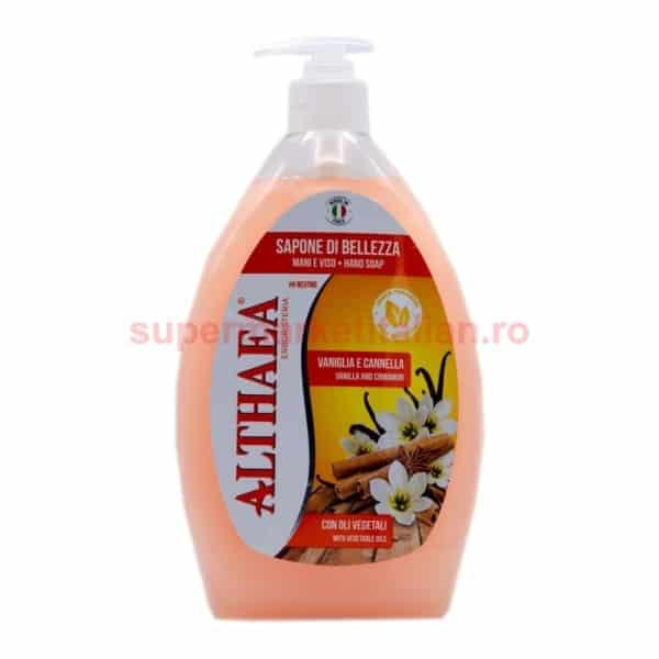 Săpun lichid Althaea Erbosteria Vanilie și Scorțișoară 750 ml 8018702002897