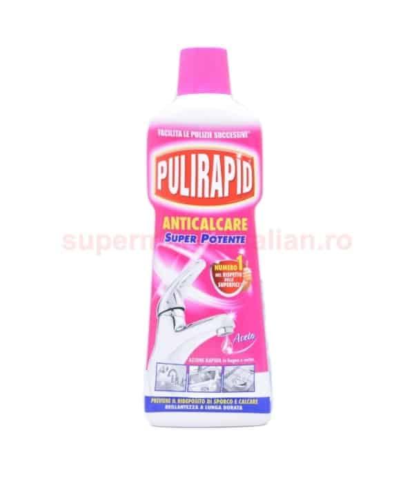 Soluție anticalcar Pulirapid pentru Baie și Bucătărie 750 ml 8002295000095