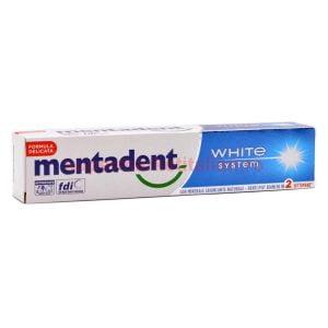 Pasta de dinți Mentadent White System Formulă Delicată