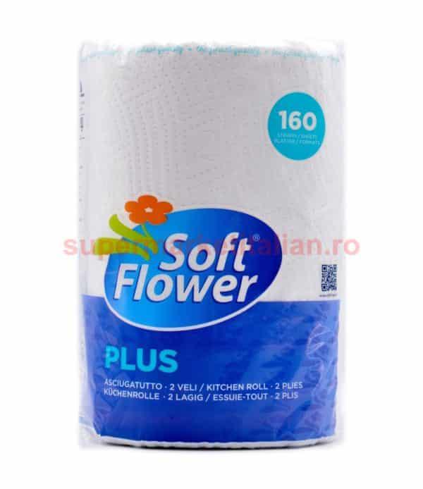 Prosoape de hârtie Soft Flower 160 foi 2 straturi 8003885124047 1