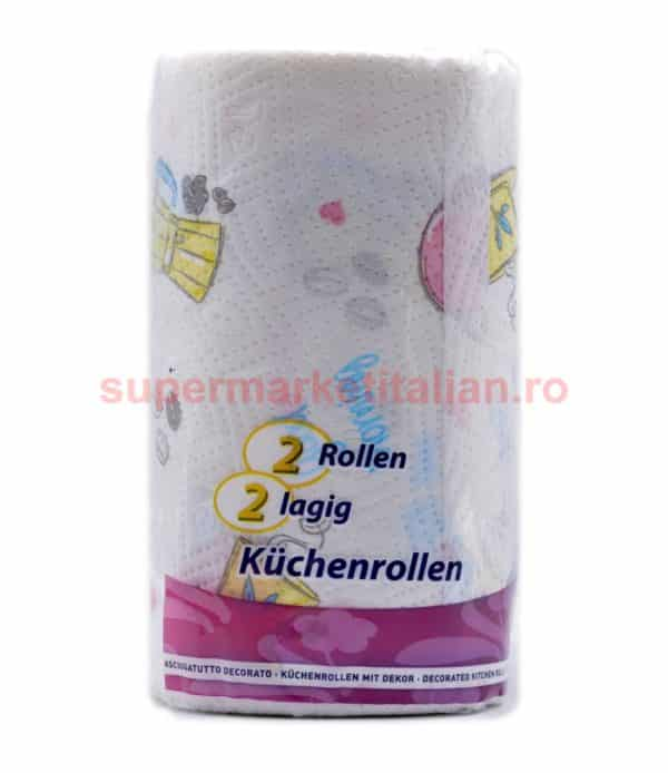 Prosoape de hârtie Soft Flower 2 role 2 straturi 100 de foi 8003885222002 2