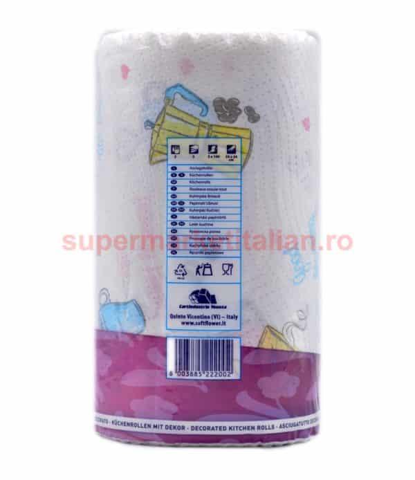 Prosoape de hârtie Soft Flower 2 role 2 straturi 100 de foi 8003885222002 3