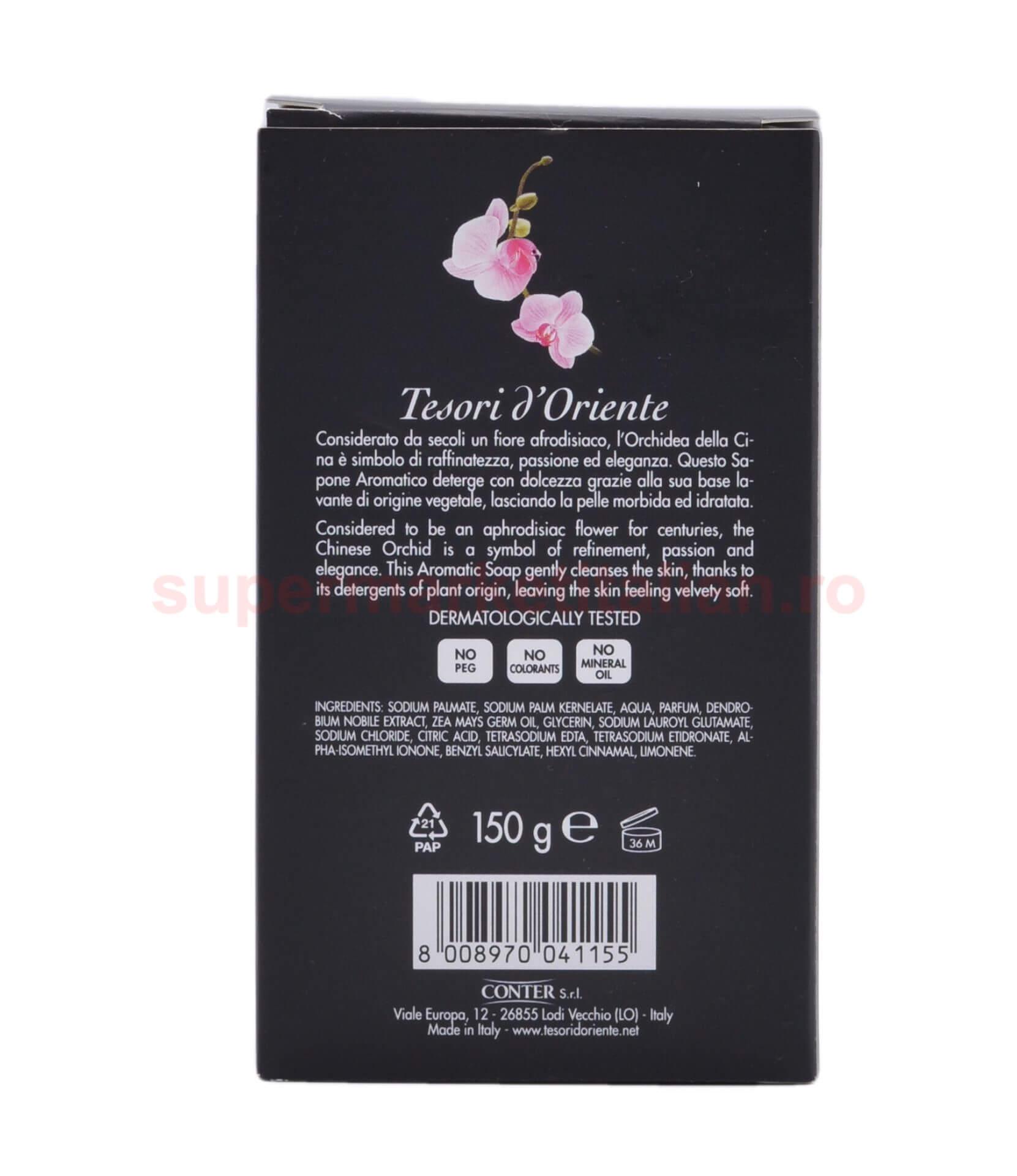 Sapun solid Tesori dOriente cu Orhidee din China 150 grame 8008970041155 2