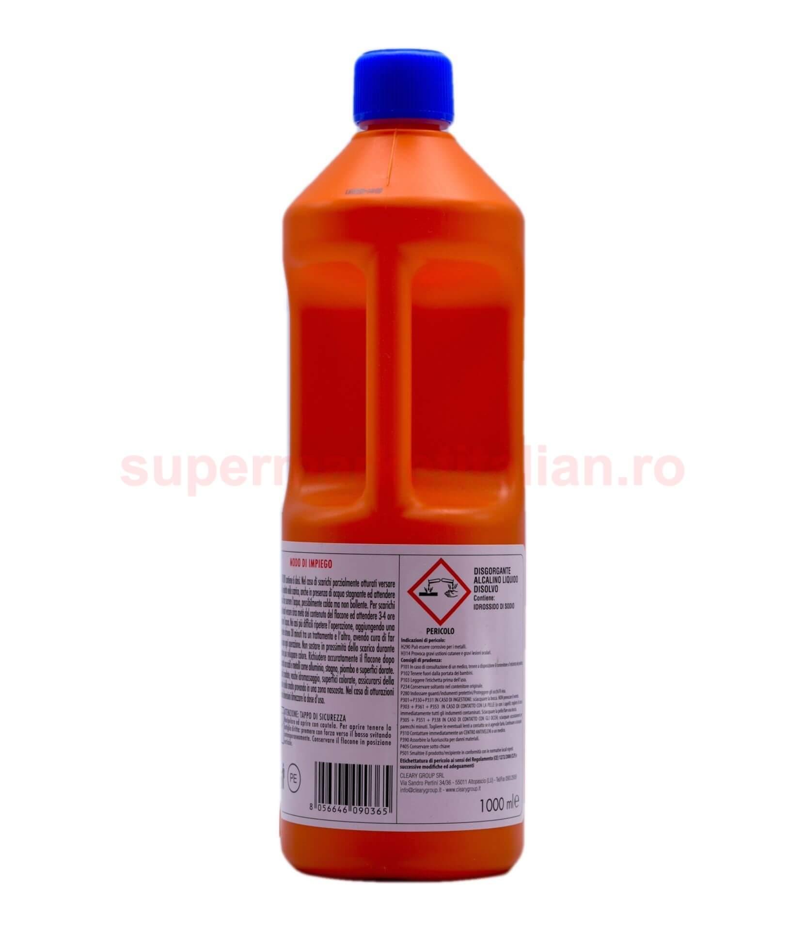 Solutie Lichida Alcalina pentru desfundat tevi Disolvo 8056646090365 2