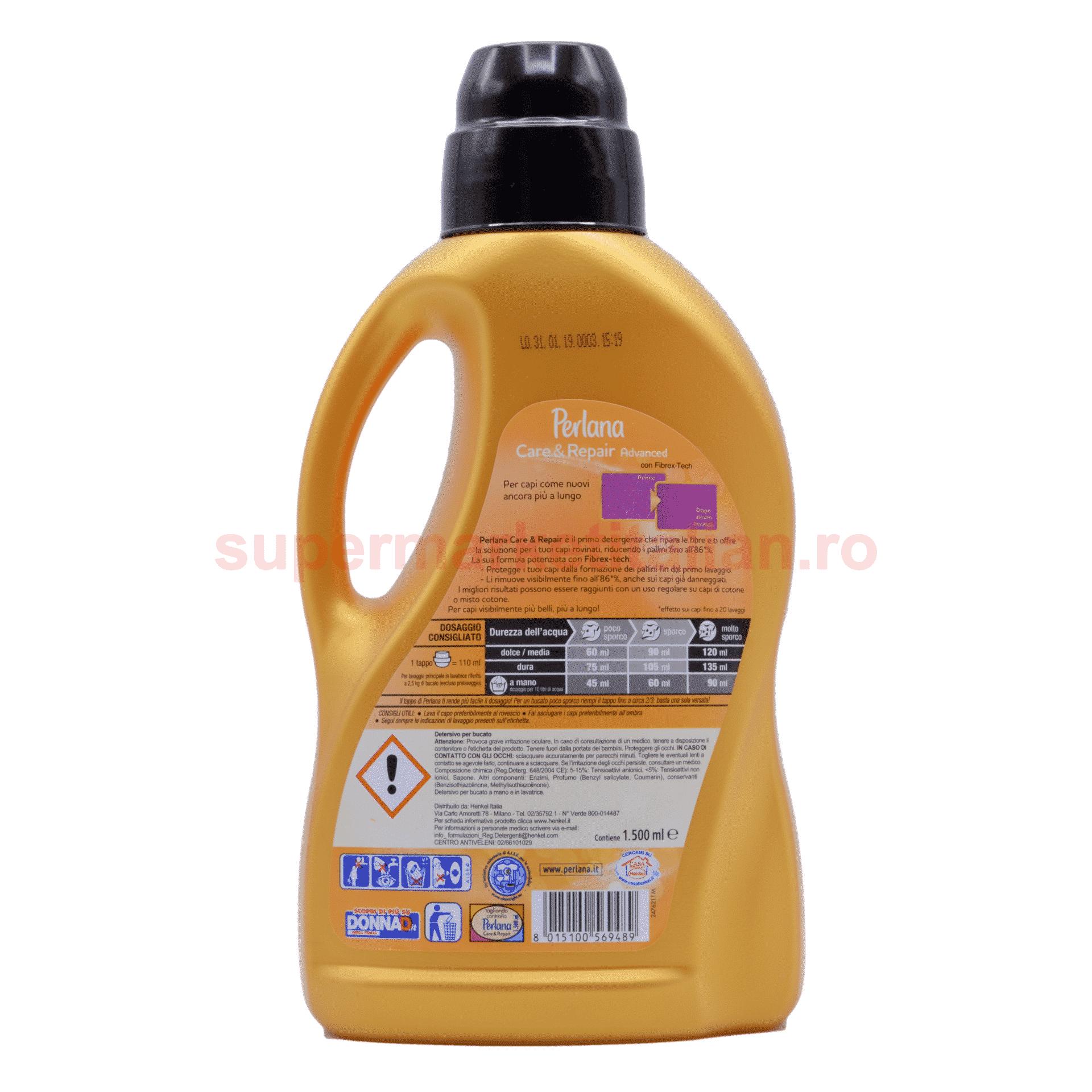 Detergent Lichid Perlana Care Repair 25 de spălări 1500 ml 8015100569489 2