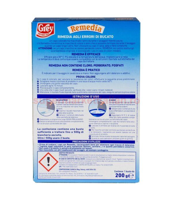 Detergent aditiv pentru remediere culori Grey Remedia 200 grame 8003190984015 3