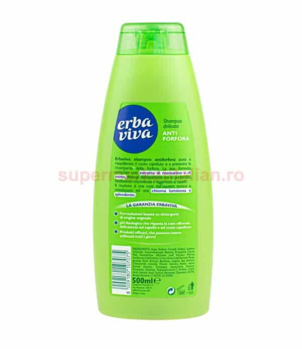 Sampon Erba Viva Antimatreata cu Mirto si Rozmarin 500 ml 8009180107075 2