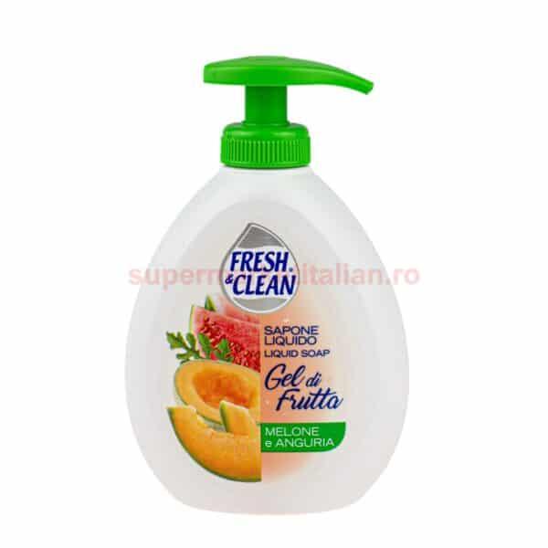 Sapun lichid Fresh and Clean cu Pepene Galben si Pepene Rosu 300 ml 8002340012646 1