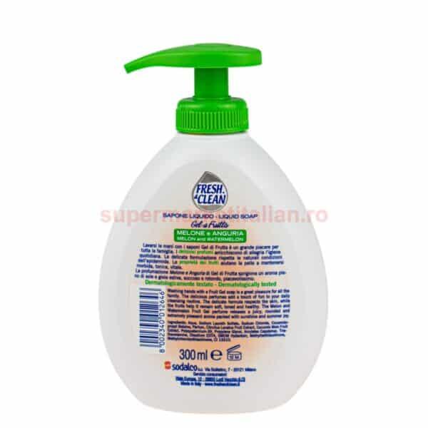 Sapun lichid Fresh and Clean cu Pepene Galben si Pepene Rosu 300 ml 8002340012646 2