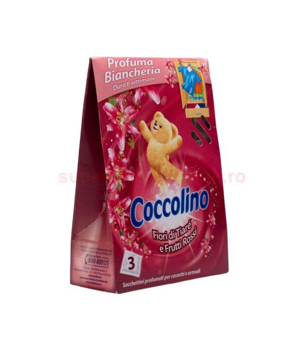 Parfum Pentru Lenjerie Coccolino Flori De Tiare Si Fructe Rosii 3 plicuri 8710908176852 2