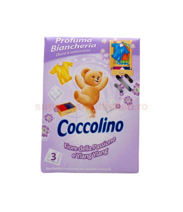 Parfum Pentru Lenjerie Coccolino Flori de pasiune si Ylang Ylang 3 plicuri 8000660310282 1 1