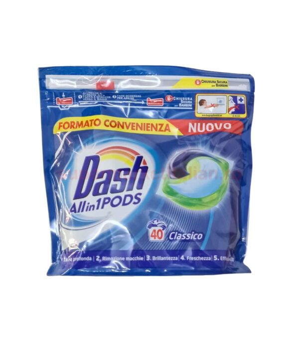 Pernute Dash All in 1 Pods Classico 40 de capsule 8001841790244 1