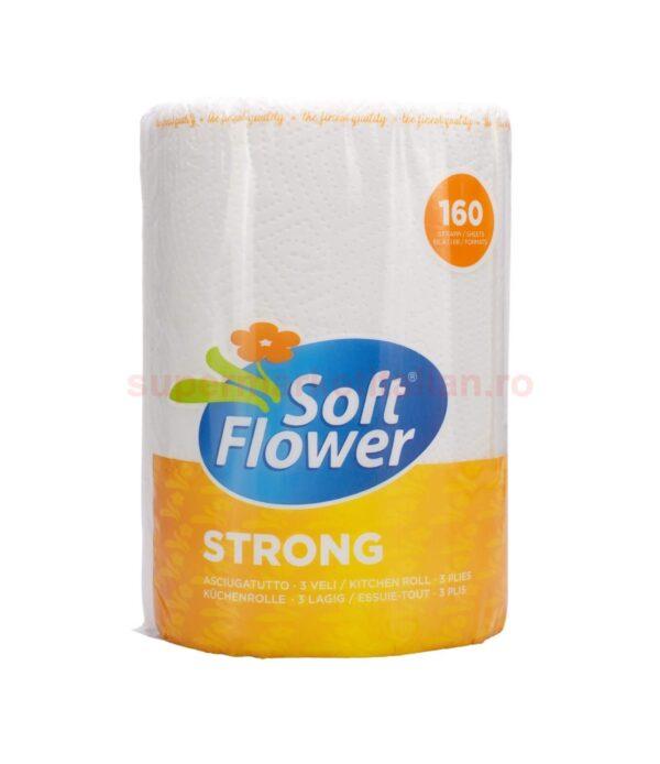 Prosop de hartie Soft Flower Strong 160 foi 3 straturi 8003885000884 1