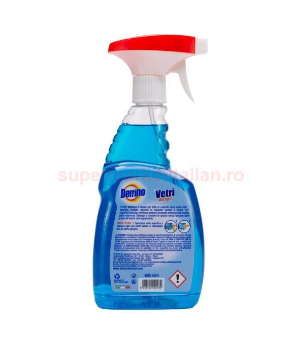 Solutie Spray Delfino Vetri Multiuso 600 ml 8018702000480 2